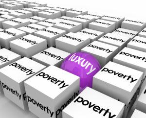 Luxury in poverty